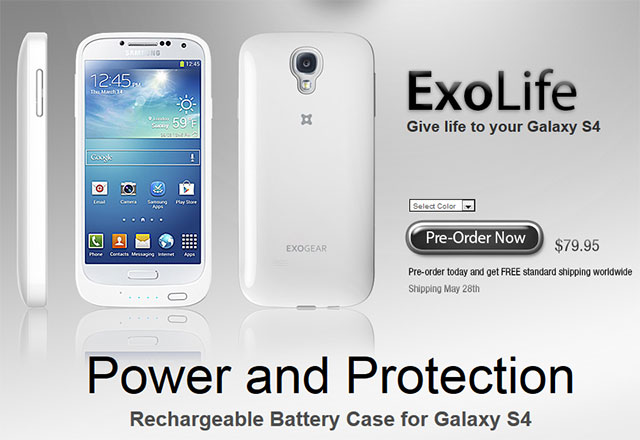 Galaxy S4 Extended Battery Case