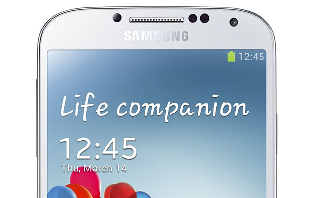 galaxy s4 lock screen message