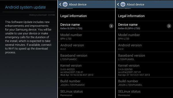 sprint galaxy s4 update