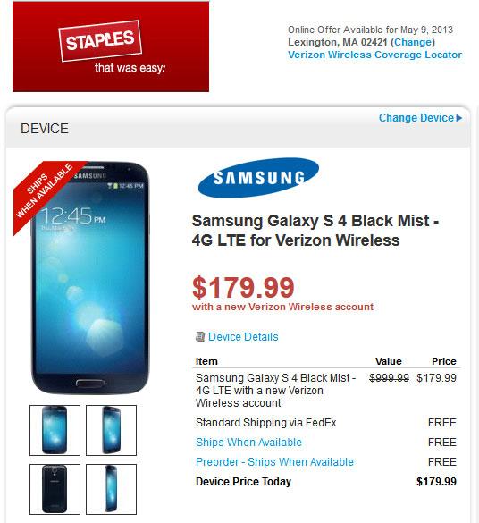 Staples Samsung Galaxy S4