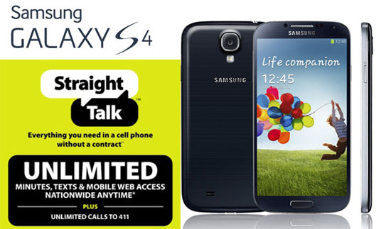 straight talk samsung galaxy s4